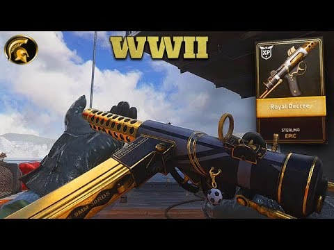 """COD WW2 - NEW """"STERLING"""" SMG Game Play - Epic """"ROYAL DECREE"""" (Is It Worth It?)"""