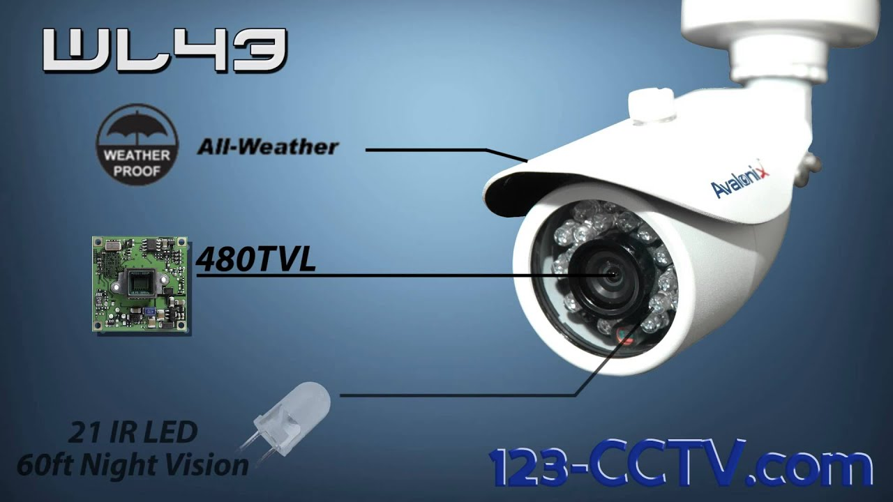 Outdoor Security Camera, 60ft Night Vision, White Colored