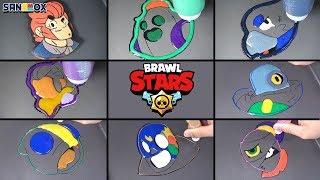 Brawl stars Pancake Art - Leon, El primo, Colt, Crow ETC