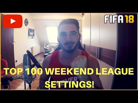 TOP 100 WEEKEND LEAGUE SETTINGS | FORMATION, TAKTIK & ANWEISUNGEN | FIFA 18 ULTIMATE TEAM
