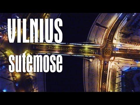 Vilniaus centras sutemose :|: Vilnius City center at night