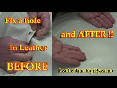 REPAIR A HOLE in LEATHER - REPAIR VIDEO *****