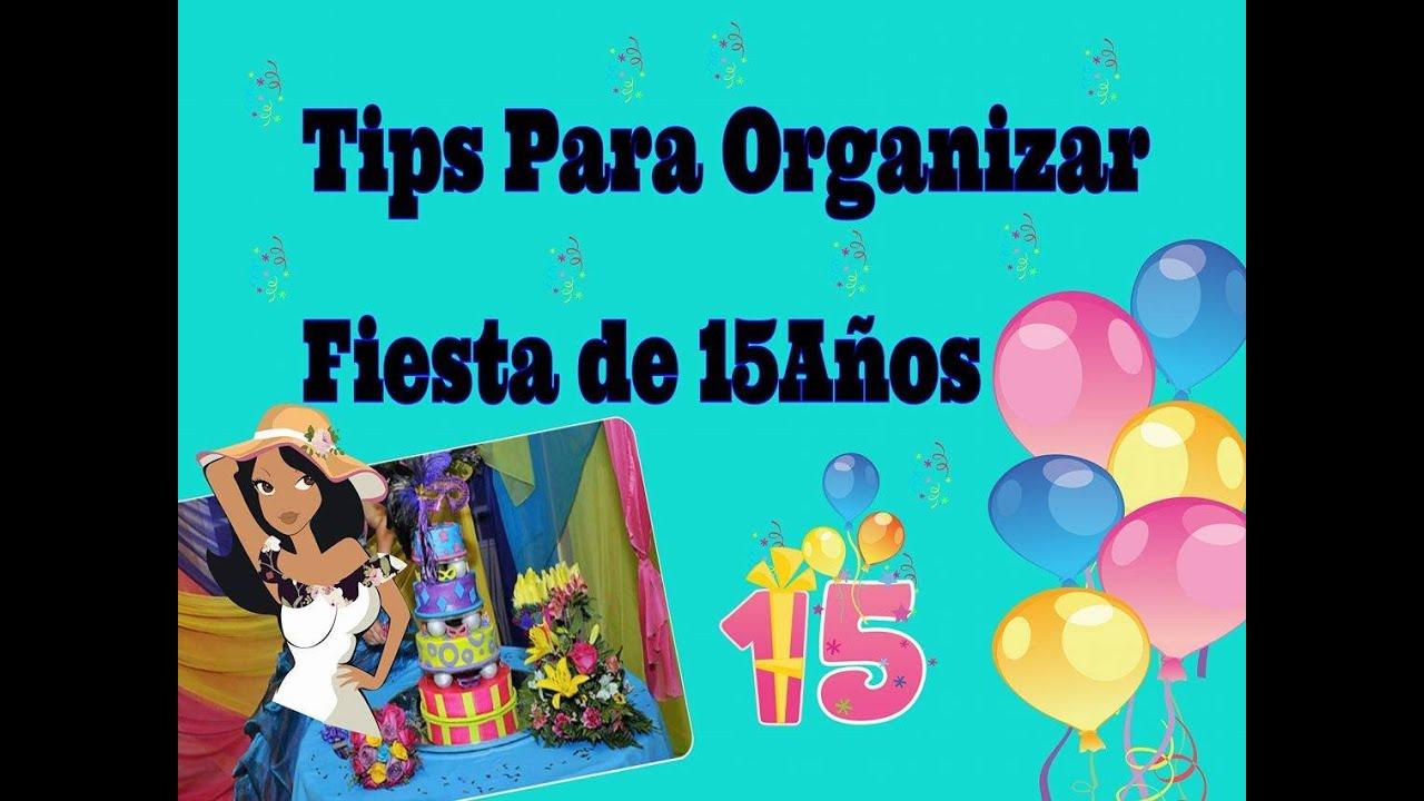 Tips ideas para organizar planear fiesta de quince a os for Como organizar una fiesta de 15