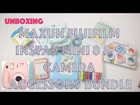 Amazon Unboxing | Maxun Fujifilm Instax Mini 8 & 9 Camera Accessory Bundle Set