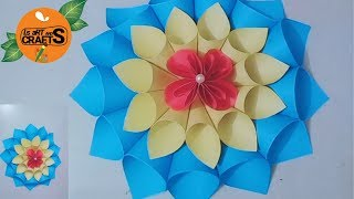 wall hanging craft ideas | paper crafts for home decoration | paper flowers