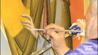 Byzantine Painter Dr. Kordis completes next stage of Iconography at St. Sophia