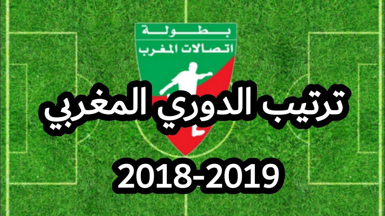 ترتيب الدوري المغربي الموسم الرياضي 2019 2018 بعد إجراء الجولة 20 Youtube