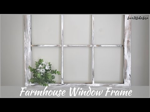 FARMHOUSE BEDROOM | How To Make A Rustic Window Frame