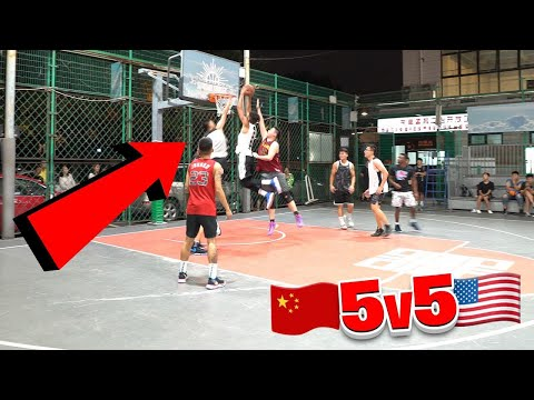 I DUNKED ON 2 PEOPLE IN CHINA! 5v5 Basketball