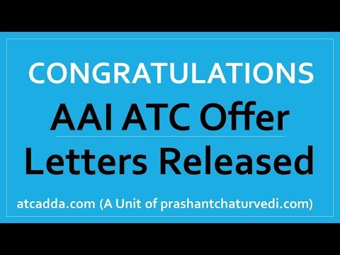 AAI ATC 2019 Offer Letters & Training Schedule Released: Check Here