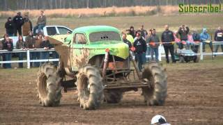 KING SLING Monster MUD TRUCK Rolls!! Huge Air!! @ Dennis Anderson's Muddy Motorsports Park!!