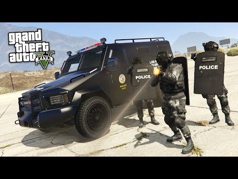 GTA 5 PLAY AS A COP MOD - SWAT w/ RIOT SHIELDS TAKEOVER!! SWAT Police Patrol!! (GTA 5 Mods Gameplay)