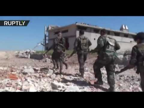 المليشيات الشيعية وقوات النظام تسيطر على مدينة حلفايا بعد أن دمرت 80 % من بنيتها التحتية ومبانيها