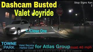 Valet Goes on Reckless Joyride in Harbor East, Baltimore