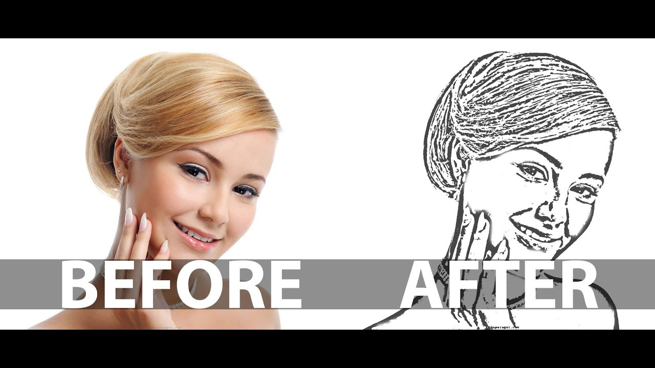 Photoshop Photo Line Art Effect : How to create a line art from photo in photoshop