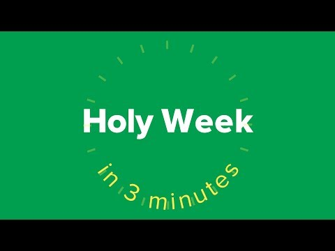 Holy Week in Three Minutes