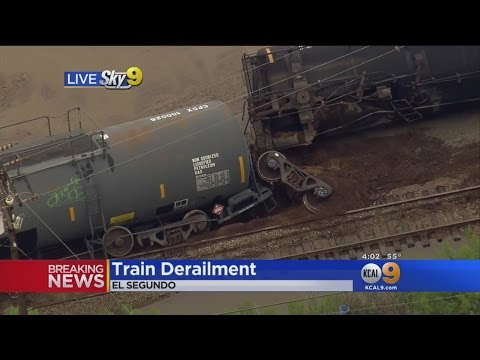 Train Derailment In El Segundo Forces Road Closure