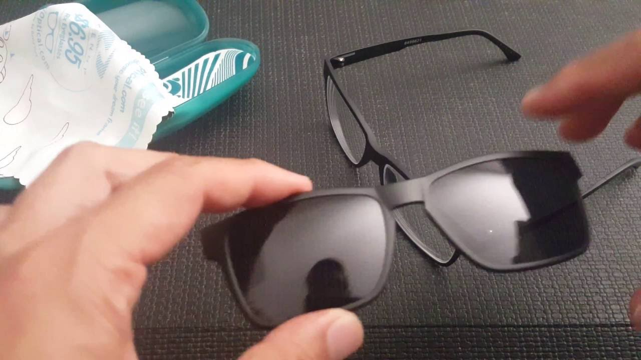 87268b20878 Zenni Optical magnetic Prescription polarized glasses Unboxing Review UV  sunglasses