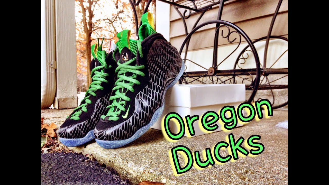 4adc9fc95cc Nike Air Foamposite One Oregon Ducks Review - YouTube