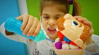 Play-Doh Dişçi seti. Oyun hamurundan yeni diş yap