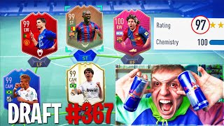 197 RATED! - I Spent 24 Hours Doing FUT DRAFTS!! (FIFA 19 Challenge)