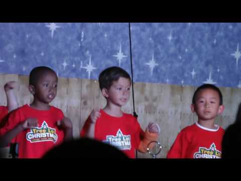 2016 12 Christopher In Christmas Musical at Santa Clara Christian School Tree Lot Christmas