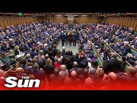 Parliament votes down May's Brexit strategy (live replay)