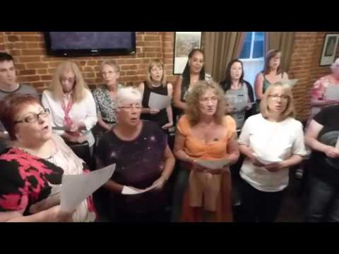 Beccles Instant Choir sings Everybody Wants To Rule The World