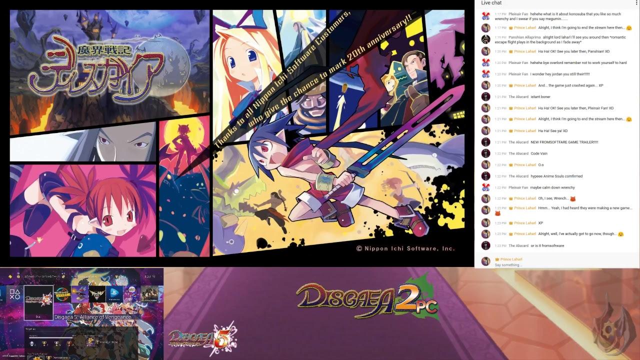 Disgaea 2 PC Part 92 + Disgaea 5 Stream (Day 575)