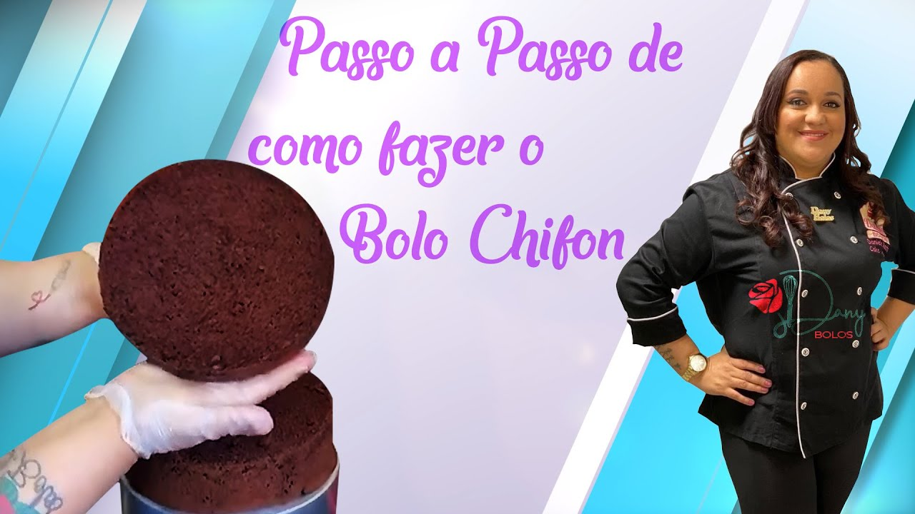 Passo a passo para fazer #Bolos de #Chocolate #Chifon