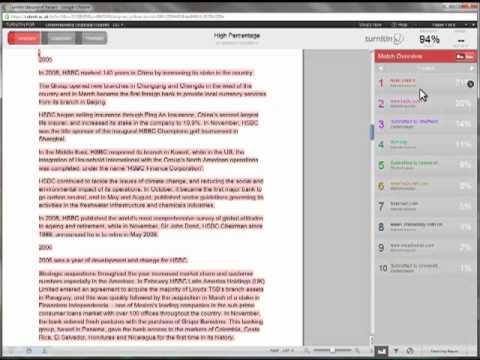 Understanding and Interpreting Originality Reports