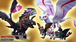 All Toothless, Light Fury, aฑd Night Lights Dragon Costumes Showcase | Dragons: Rise of Berk