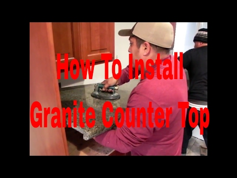 How To Install granite CounterTop Easy &Fast By Dave Blake License Tile Contractor