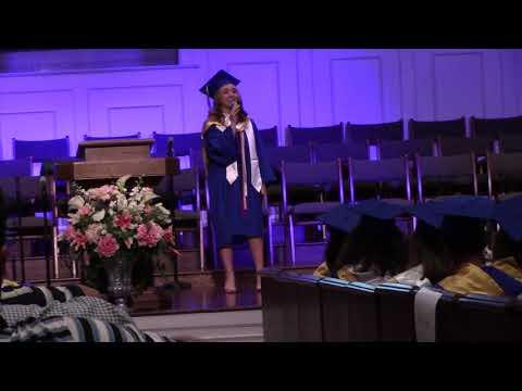 2018 - Emily Schultz sings at Wren High School Baccalaureate.