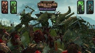 Beastmen of Khorne and Nurgle Invade Athel Loren - SFO - Total War Warhammer Multiplayer Battle