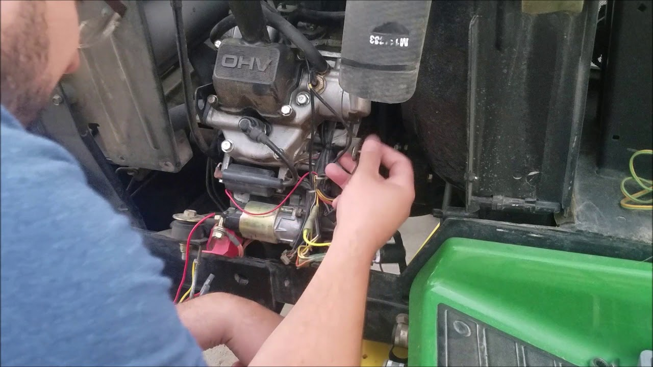 john deere 425 timing delay module replacement youtube john deere 425 belt diagram john deere 425 engine diagrams #14