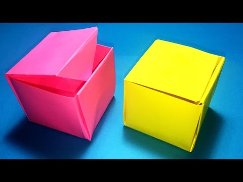 How to make a paper box that opens and closes - Origami DIY gift box | paper origami box
