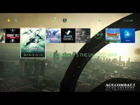 Ace Combat 7: Skies Unknown - Main Theme (PS4 Home Menu) ~ ♬
