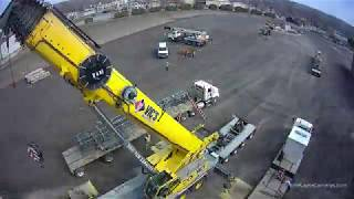 Timelapse Assembling Crane for Tower Demolition