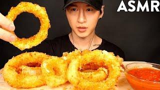 aSMR MOZZARELLA ONION RINGS MUKBANG (No Talking) COOKING & EATING SOUNDS | Zach Choi ASMR