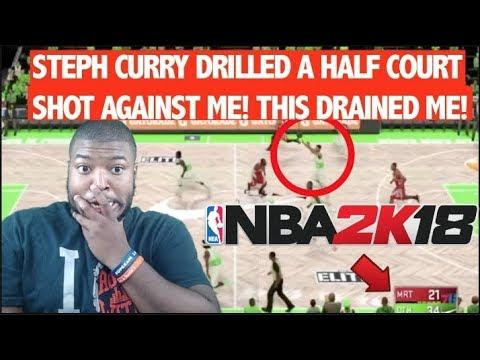 NBA 2K18 My Team - GOT DESTROYED BY CURRY! STEPH DRILLS UNBELIEVABLE HALF COURT SHOT! (IM TRASH PT3)