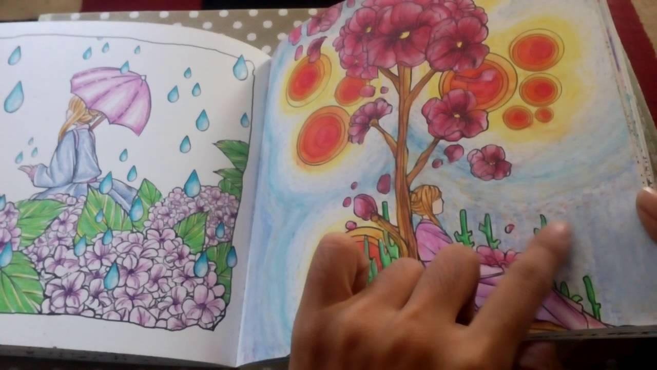 Review Buku Mewarnai untuk Dewasa Wandering Colors Review Coloring Book for Adult