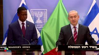 Repeat youtube video PM Netanyahu Meets President of Zambia Edgar Chagwa Lungu