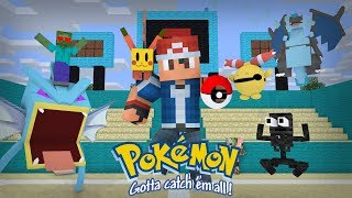 Monster School: Catching Pokemon Challenge - Minecraft Animation