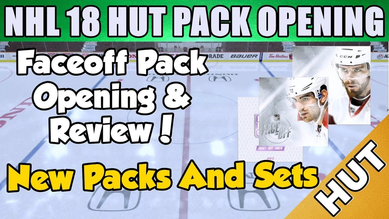 Faceoff Pack Opening + Sets - NHL 18 HUT - Hockey Ultimate Team - New Packs  And New Set! 7b770ab04