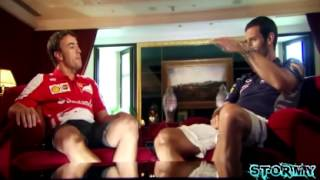 BBC Fernando Alonso and Mark Webber interview each other Spanish GP 2013
