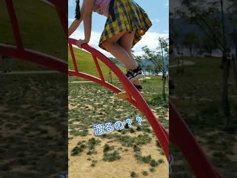 新しい公園アスレチック遊びに来てみました🎵
