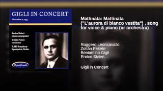 Play Mattinata, Song For Voice & Piano (or Orchestra)