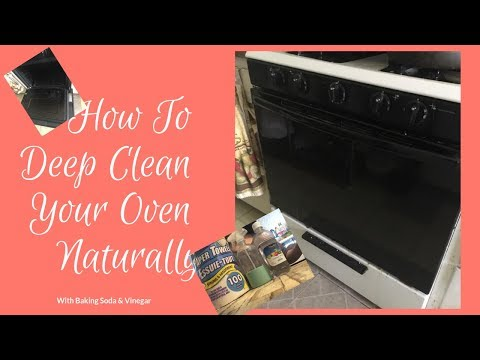 How To Deep Clean Your  Oven Naturally Using Baking Soda & Vinegar