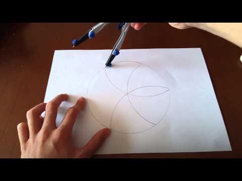 Como dibujar una flor con un compás